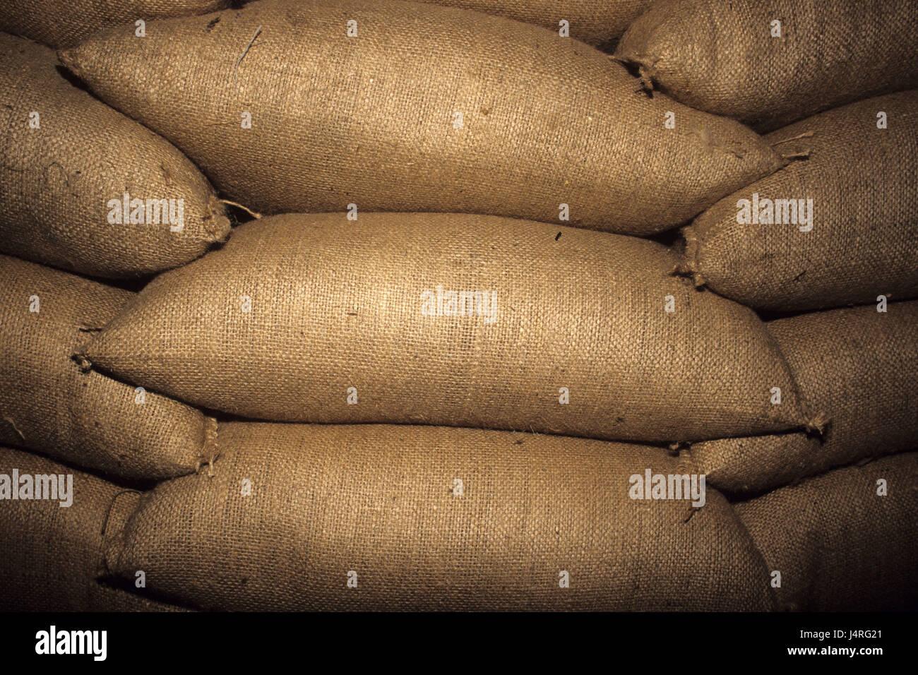 Costa Rica, San Isidro de tablespoons general, coffee bags, - Stock Image
