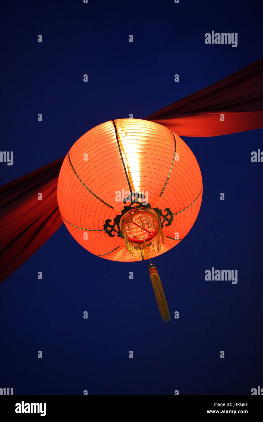 Singapore, island, town, China Town, Marktstrasse, market, night market, night, lantern, detail, - Stock Image