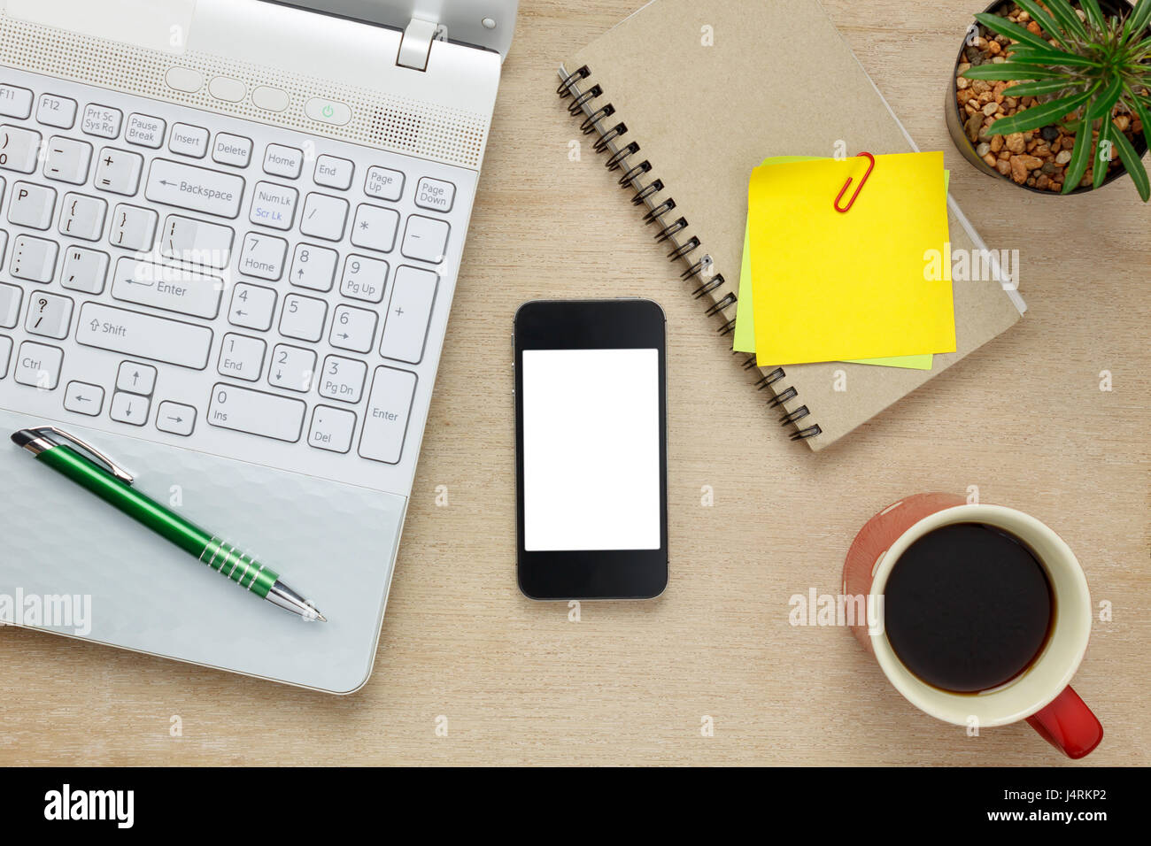 Fabulous Top View Accessories Office Desk The Mobile Phone Note Stock Download Free Architecture Designs Terchretrmadebymaigaardcom
