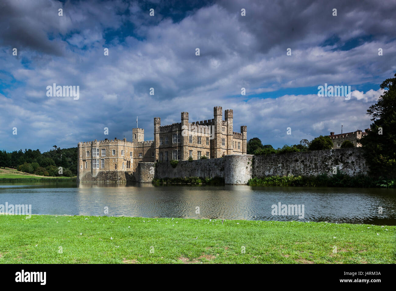 Leeds castle, situated in Kent, England - Stock Image