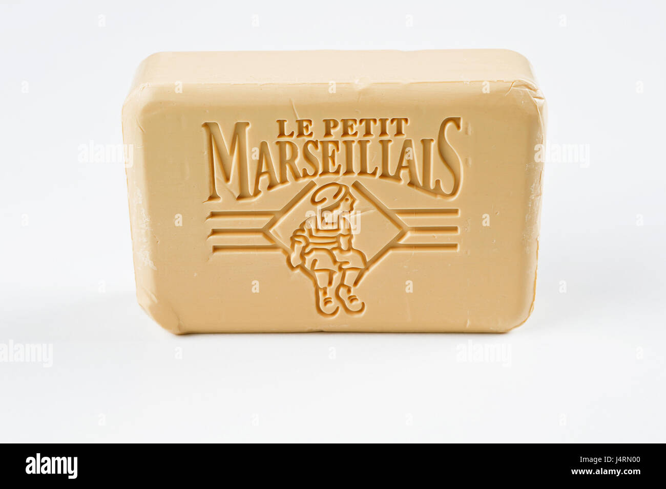 Soap, le petit marseillais cut out on white background - Stock Image