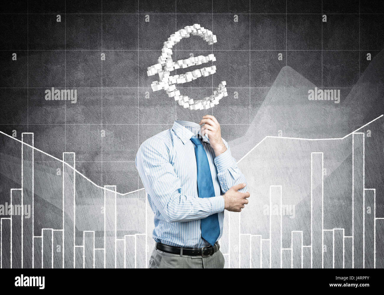He is always thinking about money - Stock Image