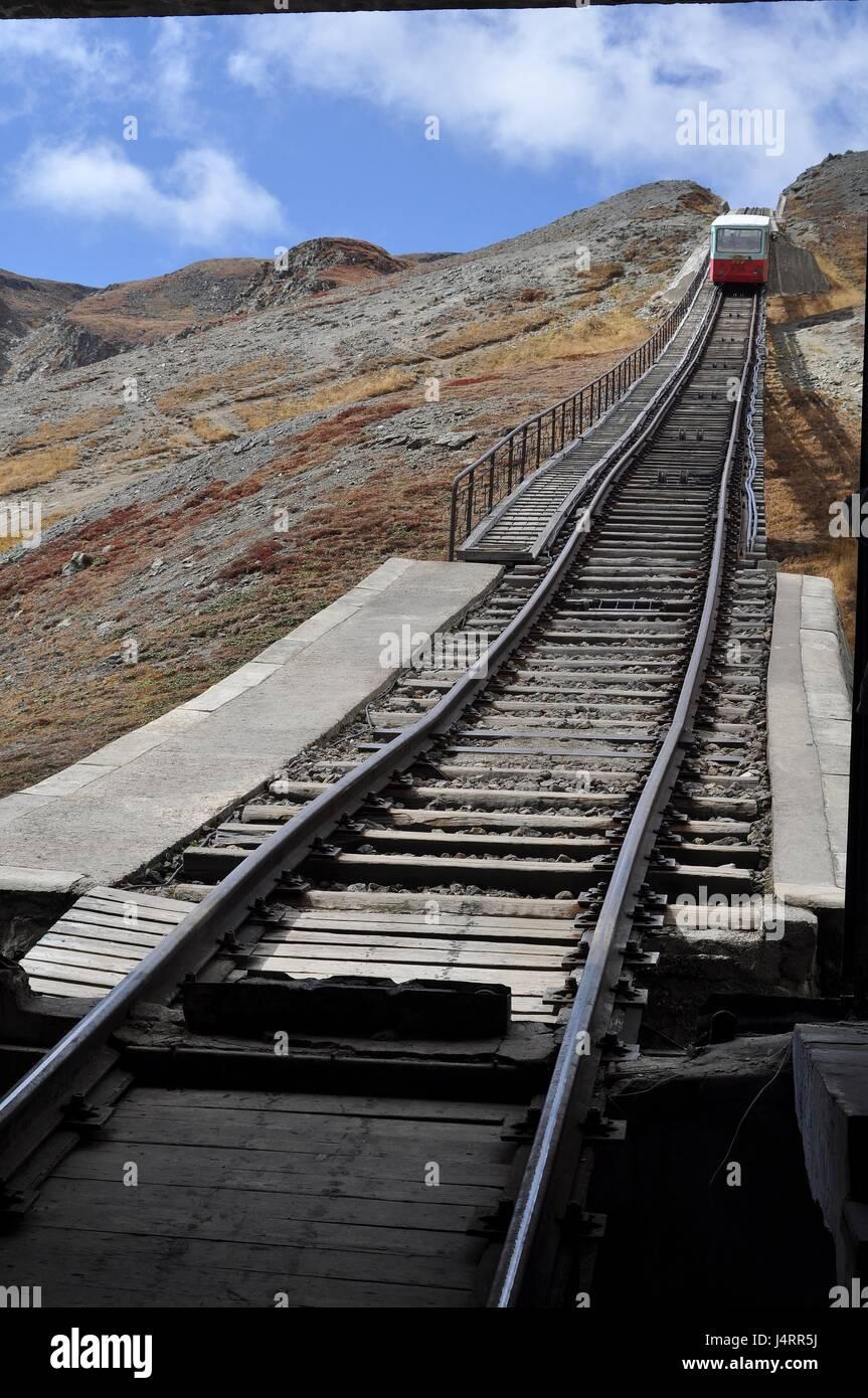 Funicular railway, Mt.Paekdu, North Korea - Stock Image