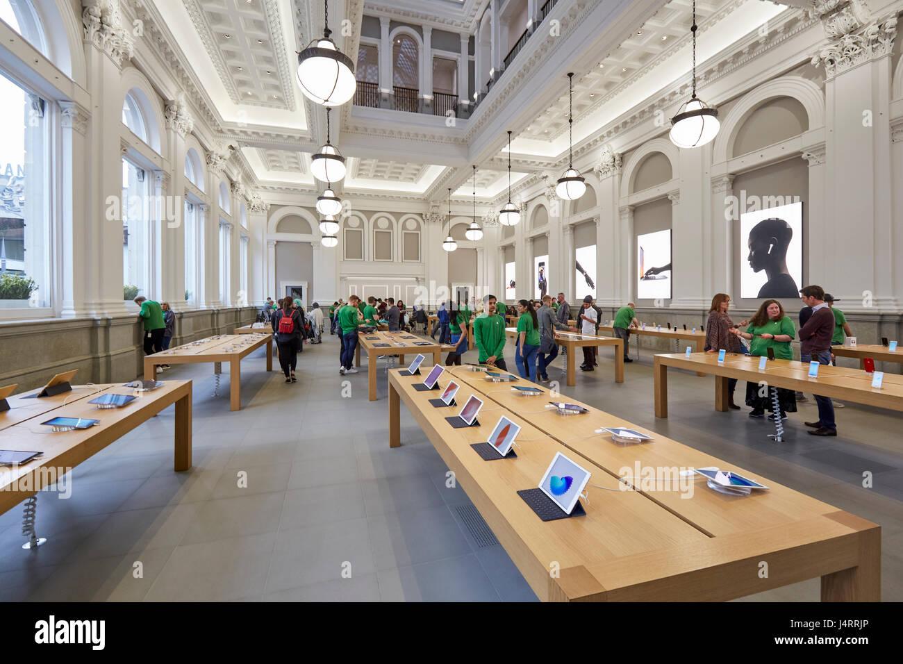 Interior of the Apple Store Birmingham West Midlands England UK
