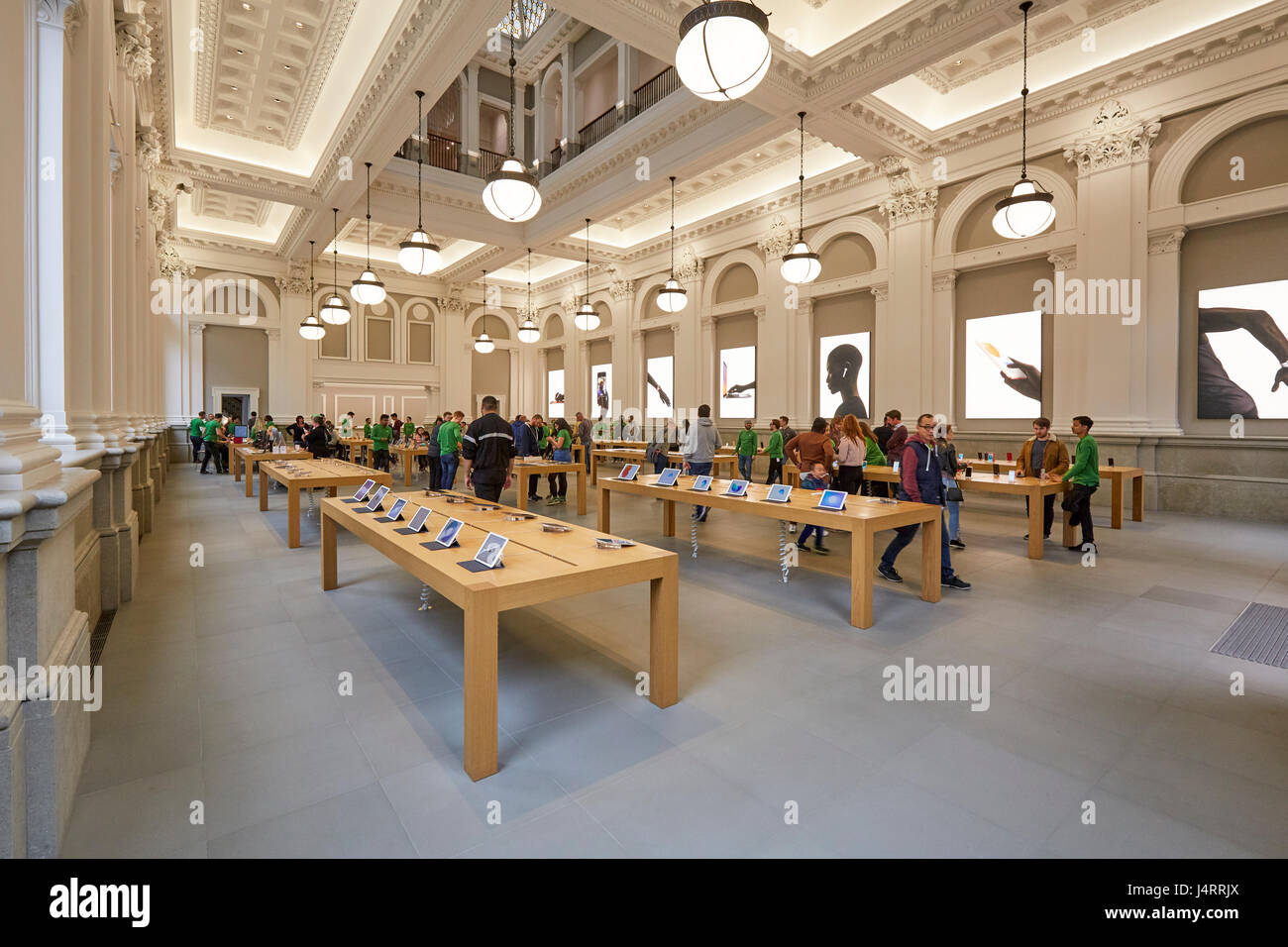 Interior of the Apple Store Birmingham West Midlands England