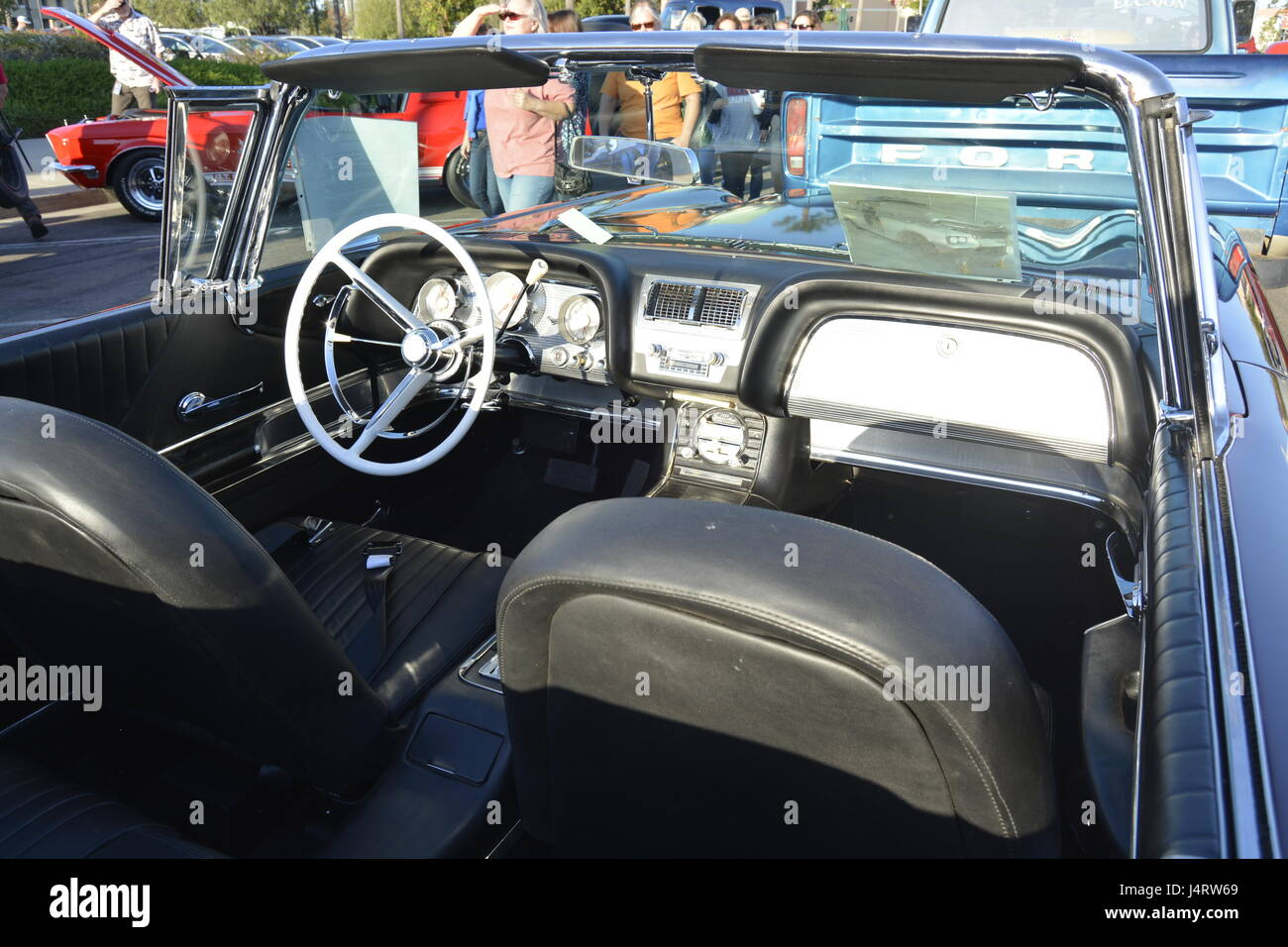1957 chevy, chevrolet, black bel air at small town main street car