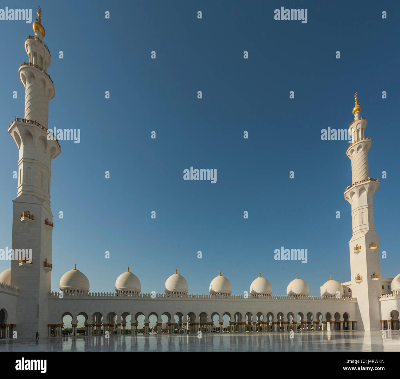 Sheikh Zayed Grand Mosque and mauseleum, Abu dhabi, UAE, Stock Photo