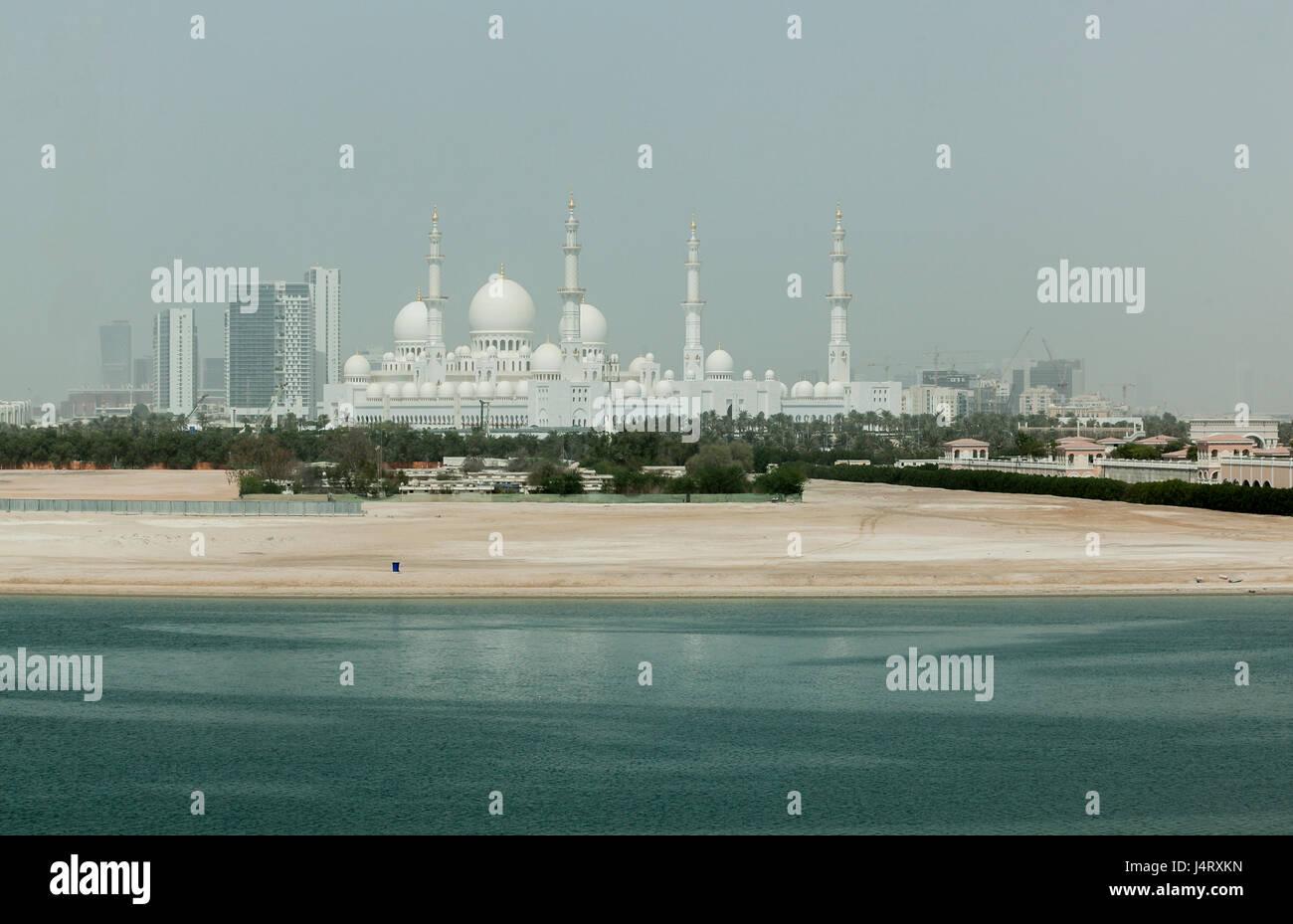 Sheikh Zayed Grand Mosque and mauseleum, Abu dhabi, UAE, Stock Photo