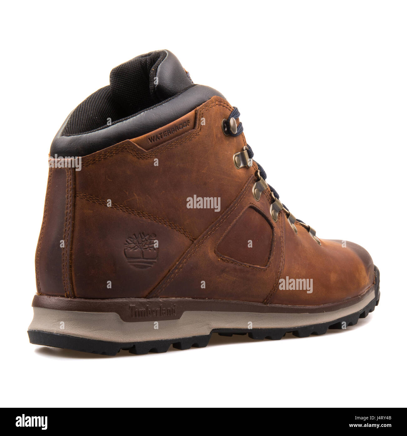 Timberland Earthkeepers Ekscramble GT Scramble Midlthr Brown Boots - 2210R Stock Photo