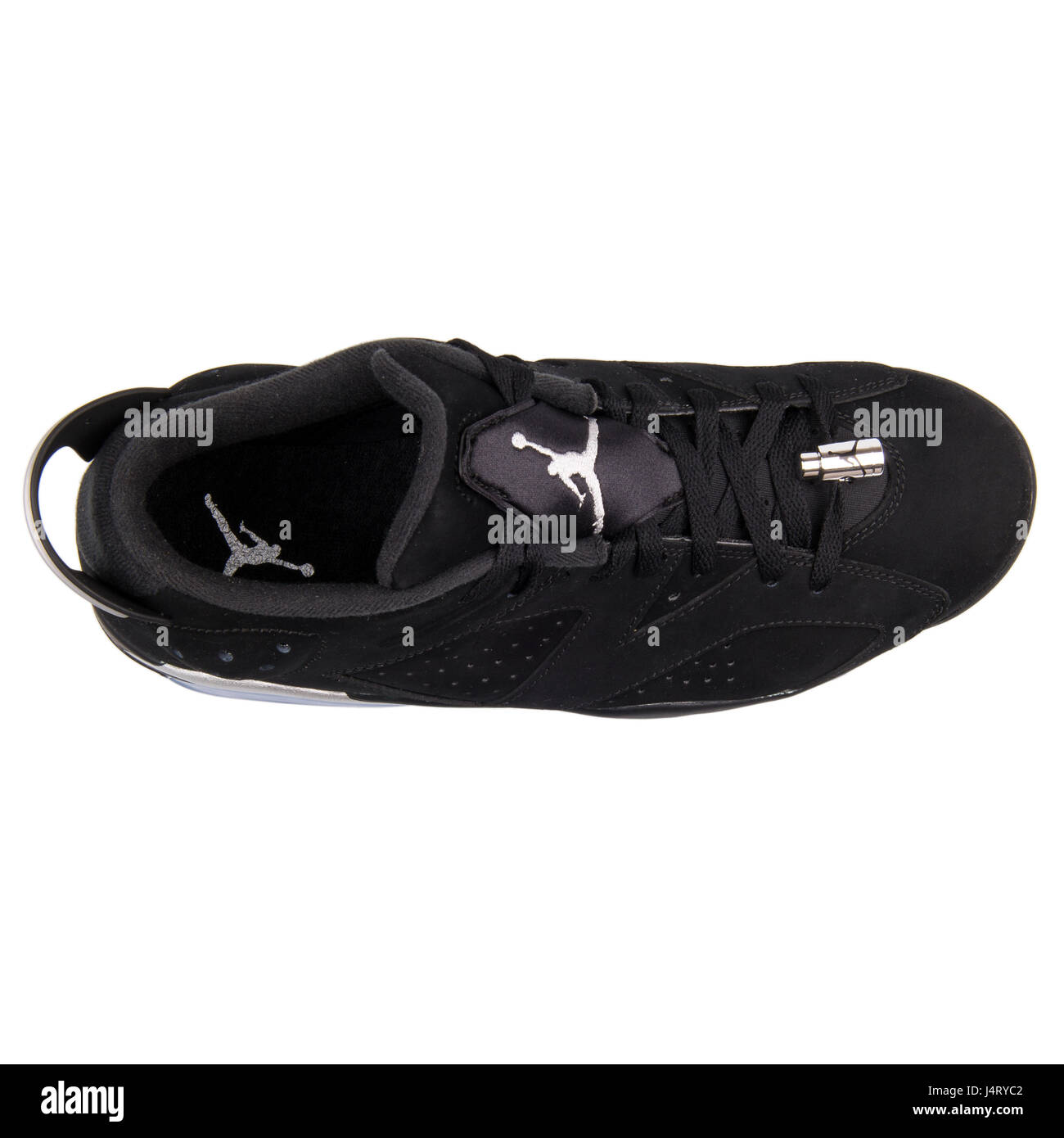 e426c1455de2 Nike Air Jordan VI Retro 6 Low Chrome Black Metallic Silver White Sneakers  - 304401-003
