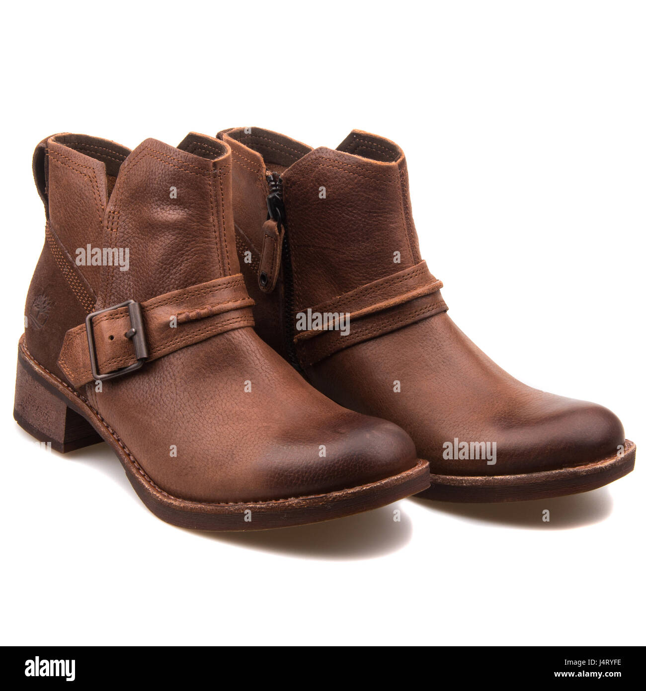 6621f4105b Timberland Whittemore Chelsea Dark Brown Women's Leather Boots - A12JL -  Stock Image