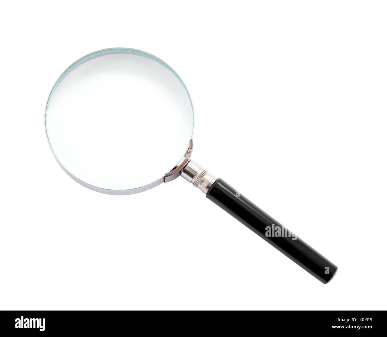 Magnifying glass isolated on white - Stock Image