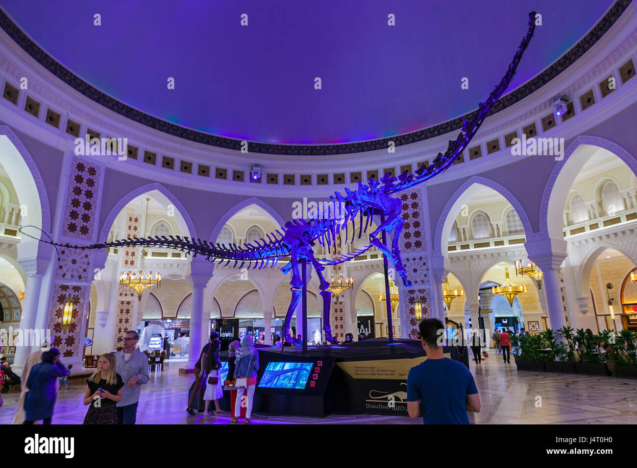 DUBAI MALL,DUBAI, UAE-15TH AUG 2015:-The Dubai mall is more than just shopping it is an experience. Stock Photo
