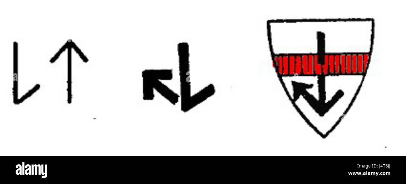 Wappen Lettow Vorbeck Binderune - Stock Image