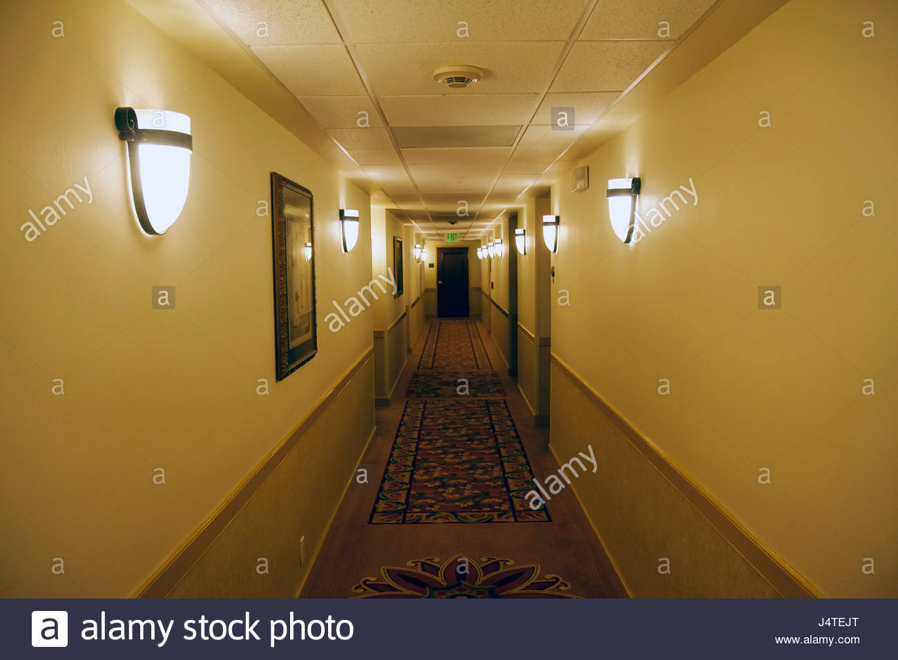 Naples Florida Doubletree Guest Suites Motel Hotel Hallway Wall