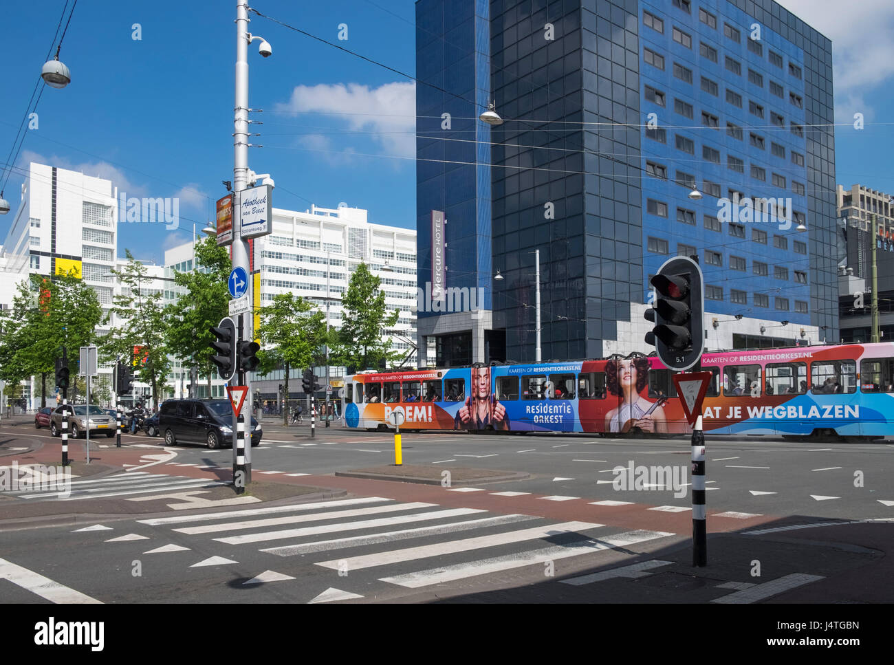 Examples Of Modern Architecture Design Seen In Central Den Haag The Stock Photo Alamy