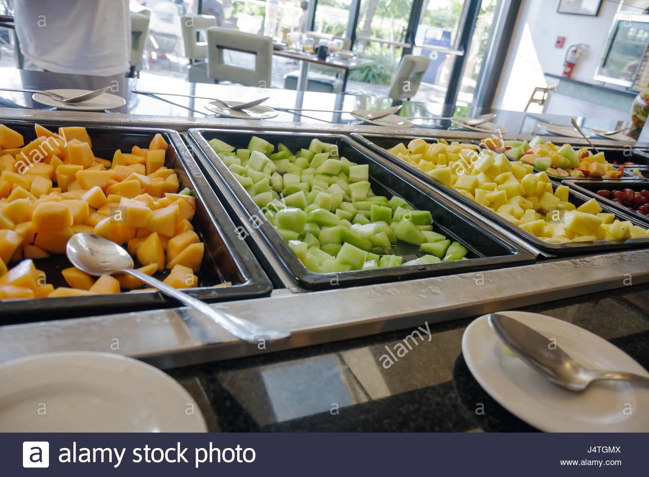 miami florida wyndham miami airport hotel lodging restaurant stock rh alamy com loews breakfast buffet miami breakfast buffet miami south beach