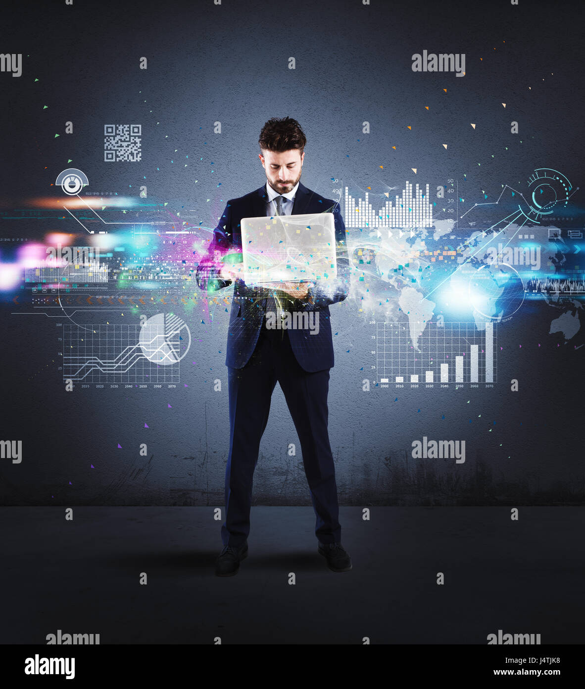 Successful business  project - Stock Image