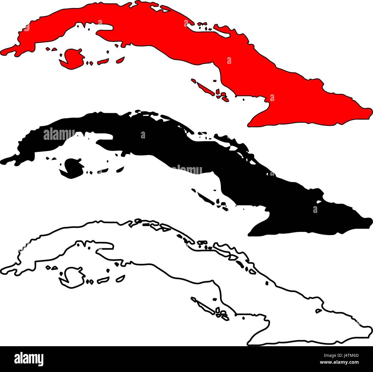 Cuba map vector illustration, scribble sketch Cuba - Stock Image