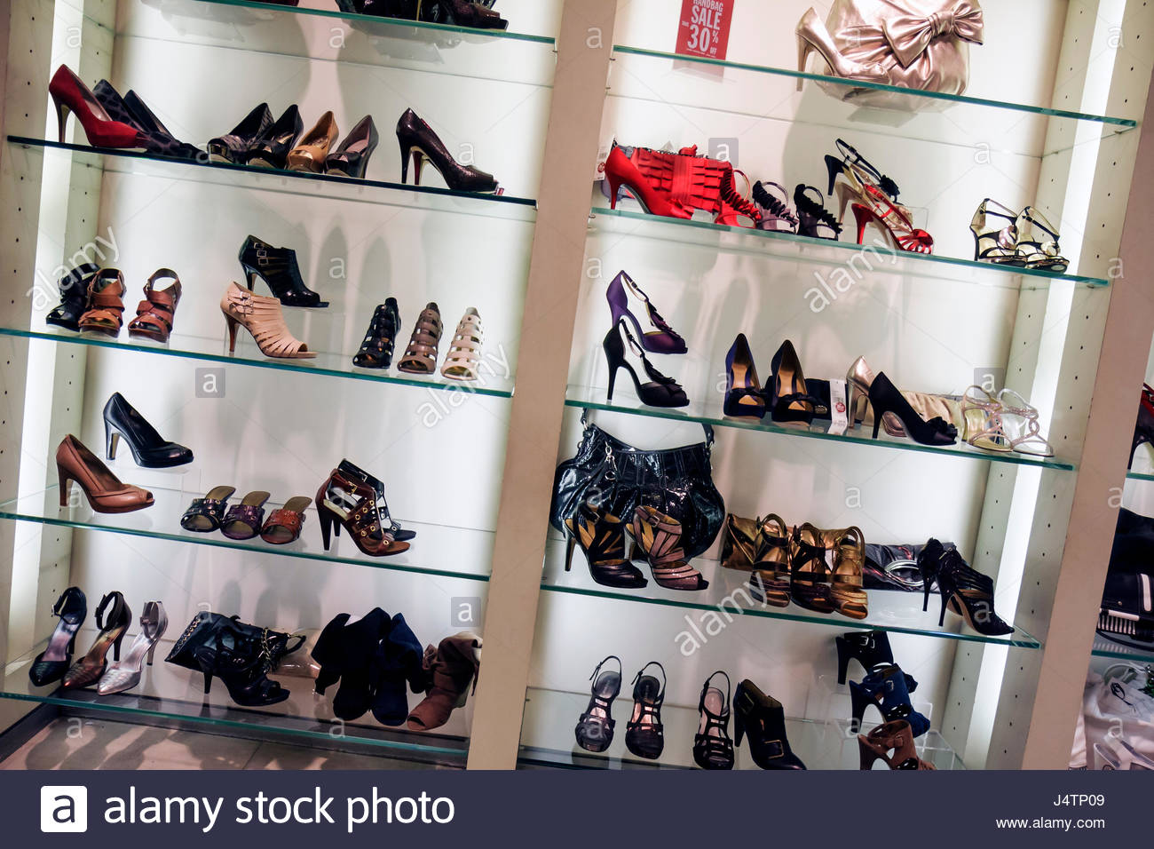 Miami Beach Florida Collins Avenue Nine West store chain retail shopping fashion display footwear shoes high heels - Stock Image