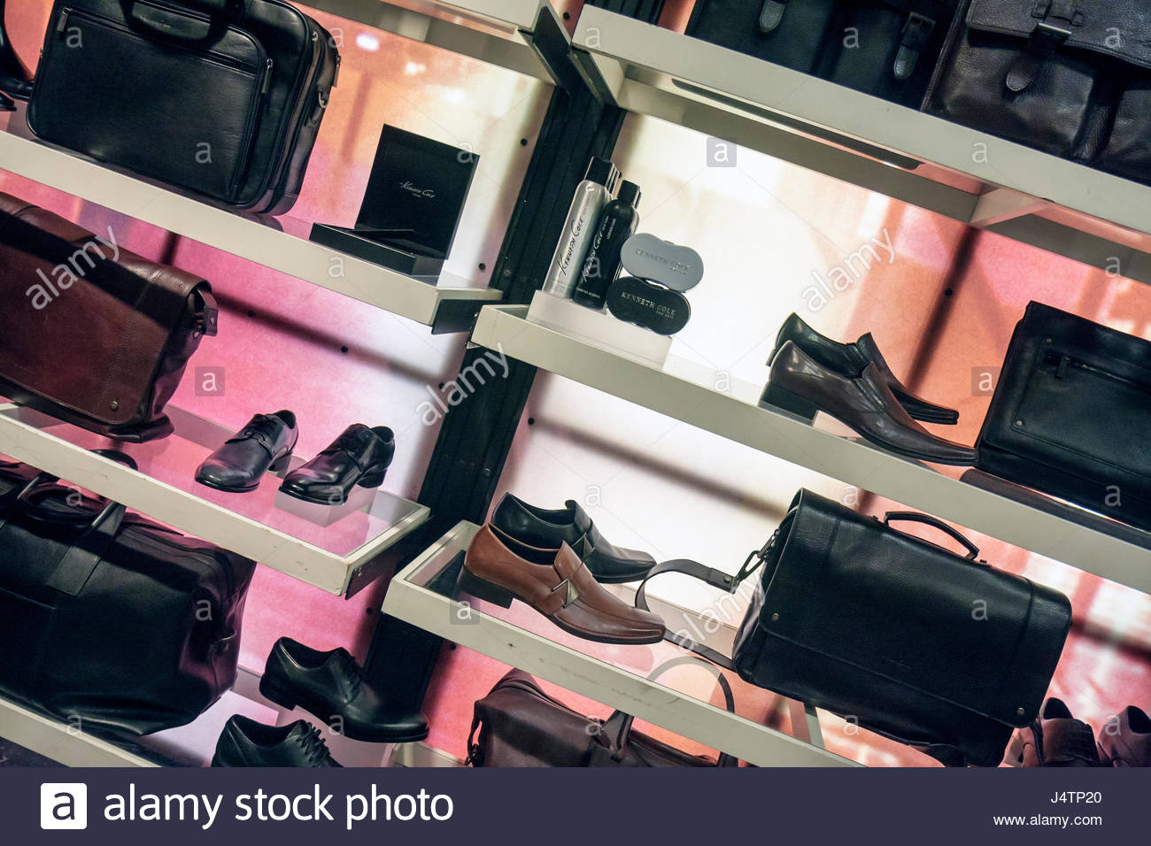 Miami Beach Florida Collins Avenue Kenneth Cole American designer leather goods accessories shopping fashion retail - Stock Image