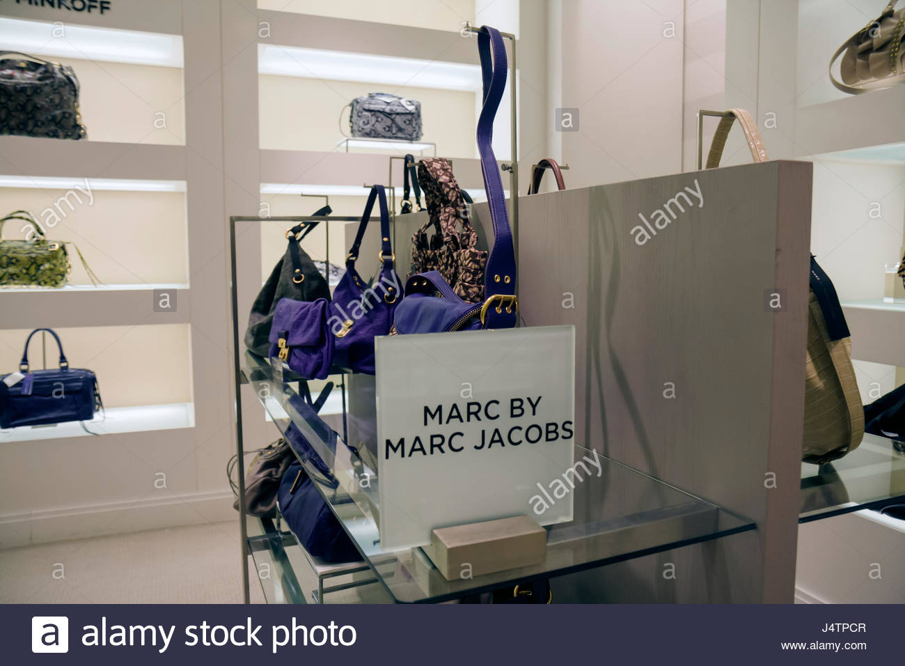 Palm Beach Florida Worth Avenue Saks Fifth 5th Avenue business upscale fashion luxury high-end department store - Stock Image
