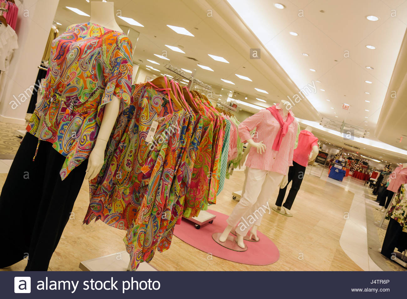 Palm Beach Florida Gardens The Gardens Mall Macy's anchor department store business retail fashion shopping - Stock Image