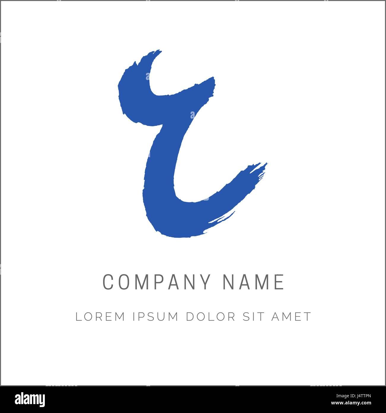 Letter R Paint Brush Stroke Vector Design Hand Lettering Logo