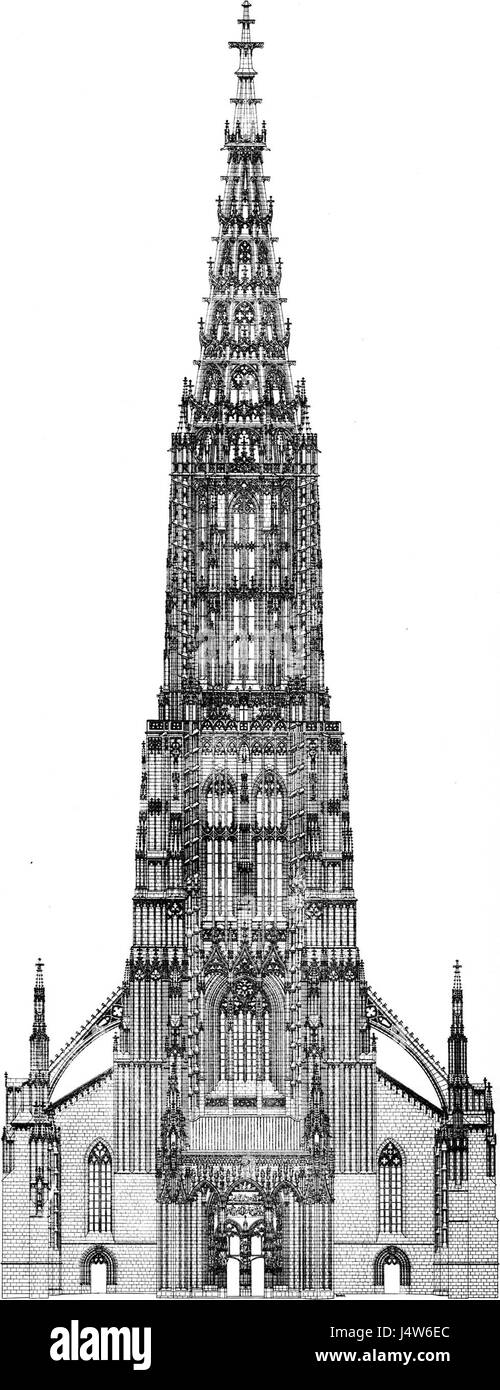 Ulm Minster tower Stock Photo