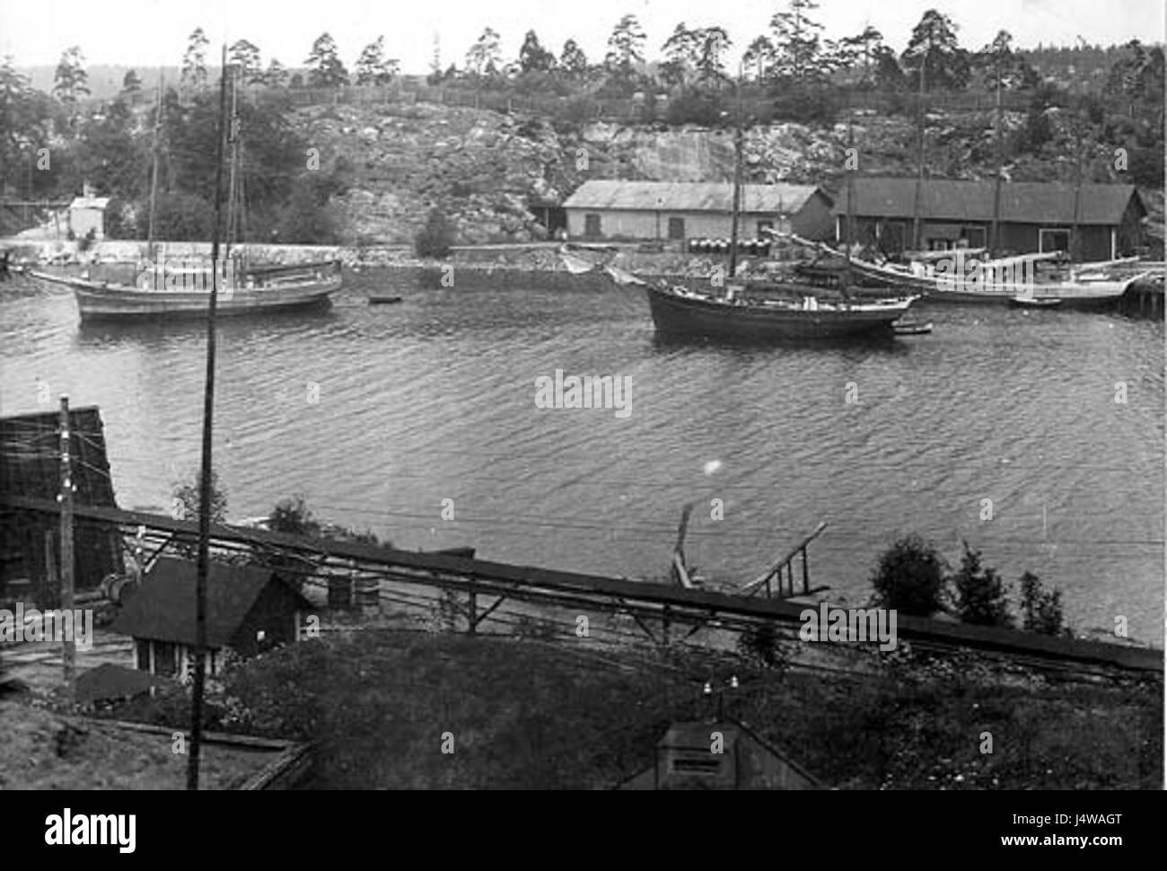 Vinterviken 1900d - Stock Image