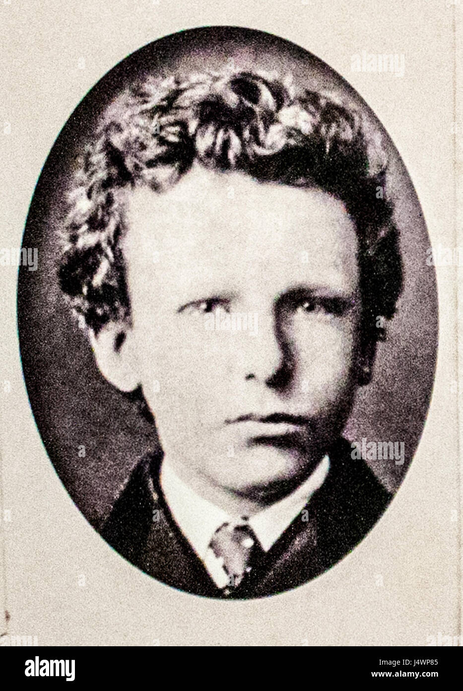 Vincent Willem van Gogh as a young boy Stock