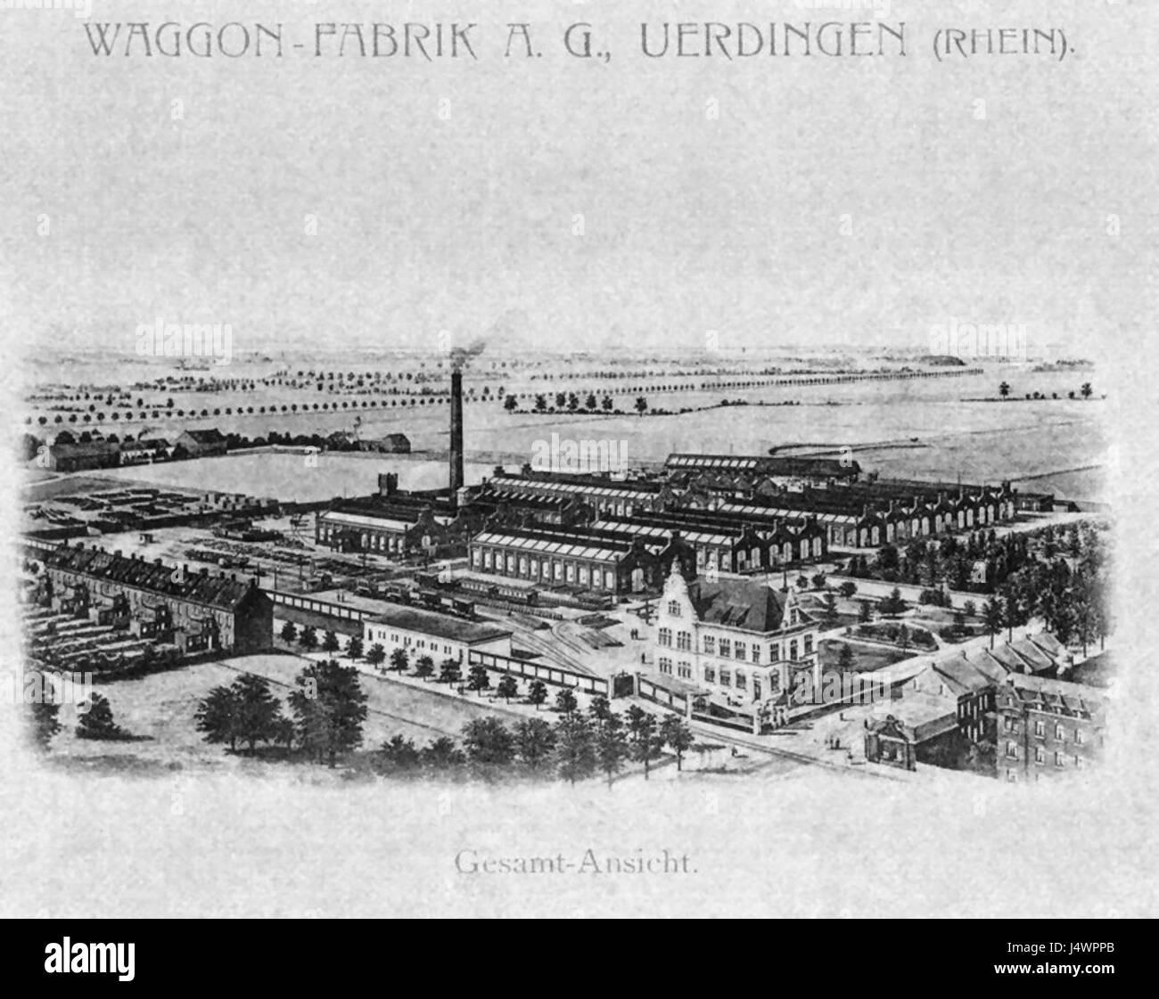 Waggonfabrik Uerdingen 1911 - Stock Image
