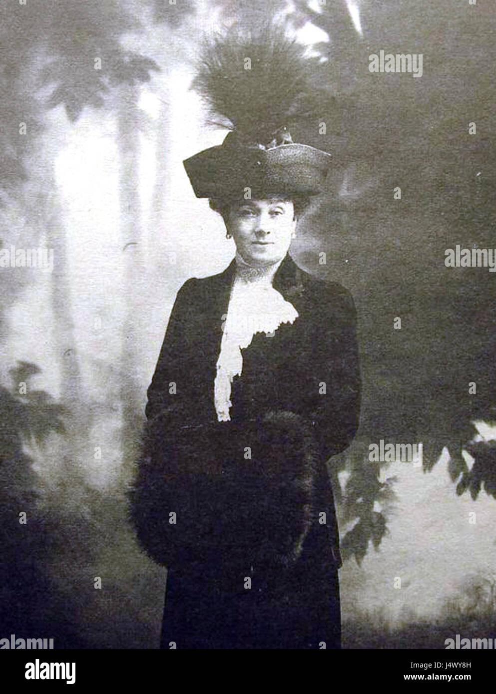 Vitte M.I. (zhena S.Y). 1905. Karl Bulla - Stock Image