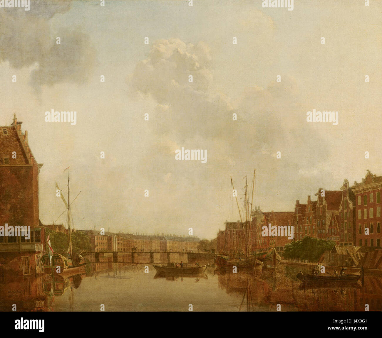 View of the River Amstel in Amsterdam by Gerrit Toorenburgh Mauritshuis 178 Stock Photo