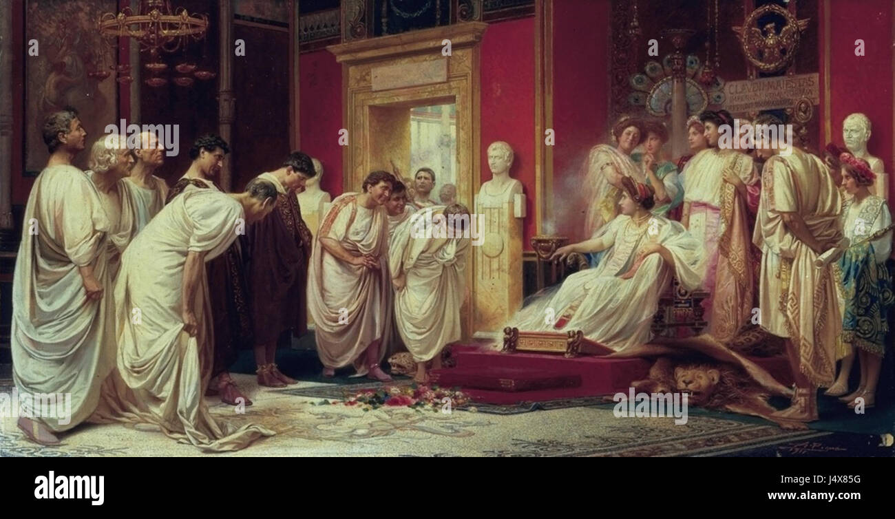 When Claudius Is Away, Messalina Will Play by A.Pigma (1911)Stock Photo
