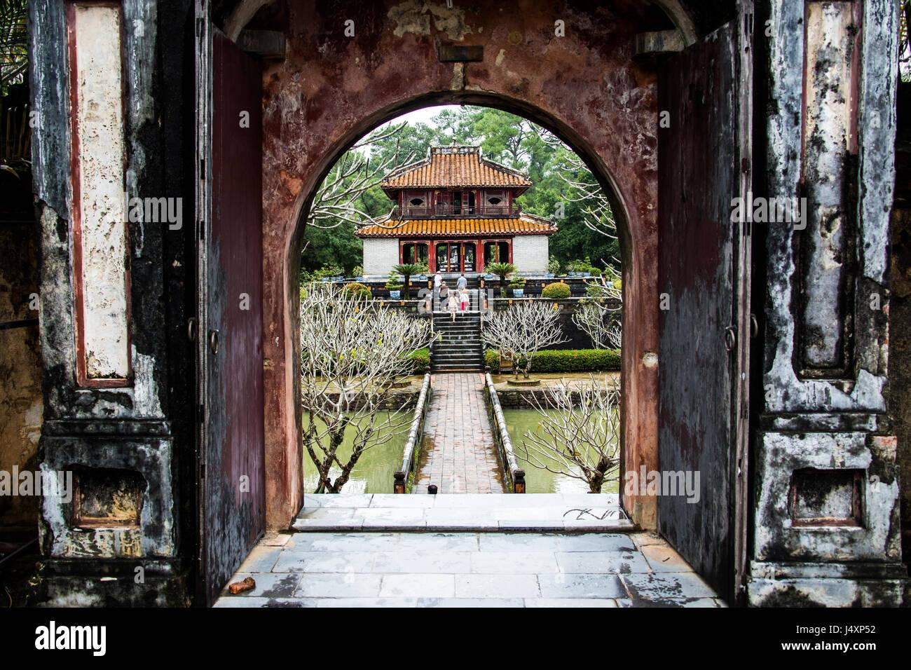 Minh Mang Tomb, Hue, Vietnam - Stock Image