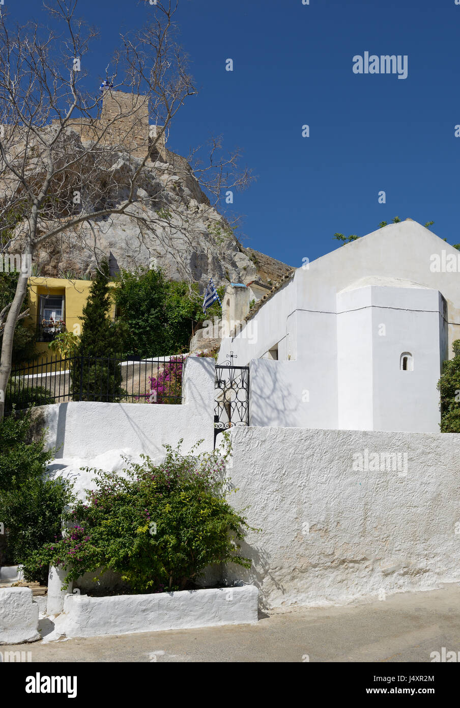 Church of Agios Georgios of the Rock at Anaftioftika - Stock Image