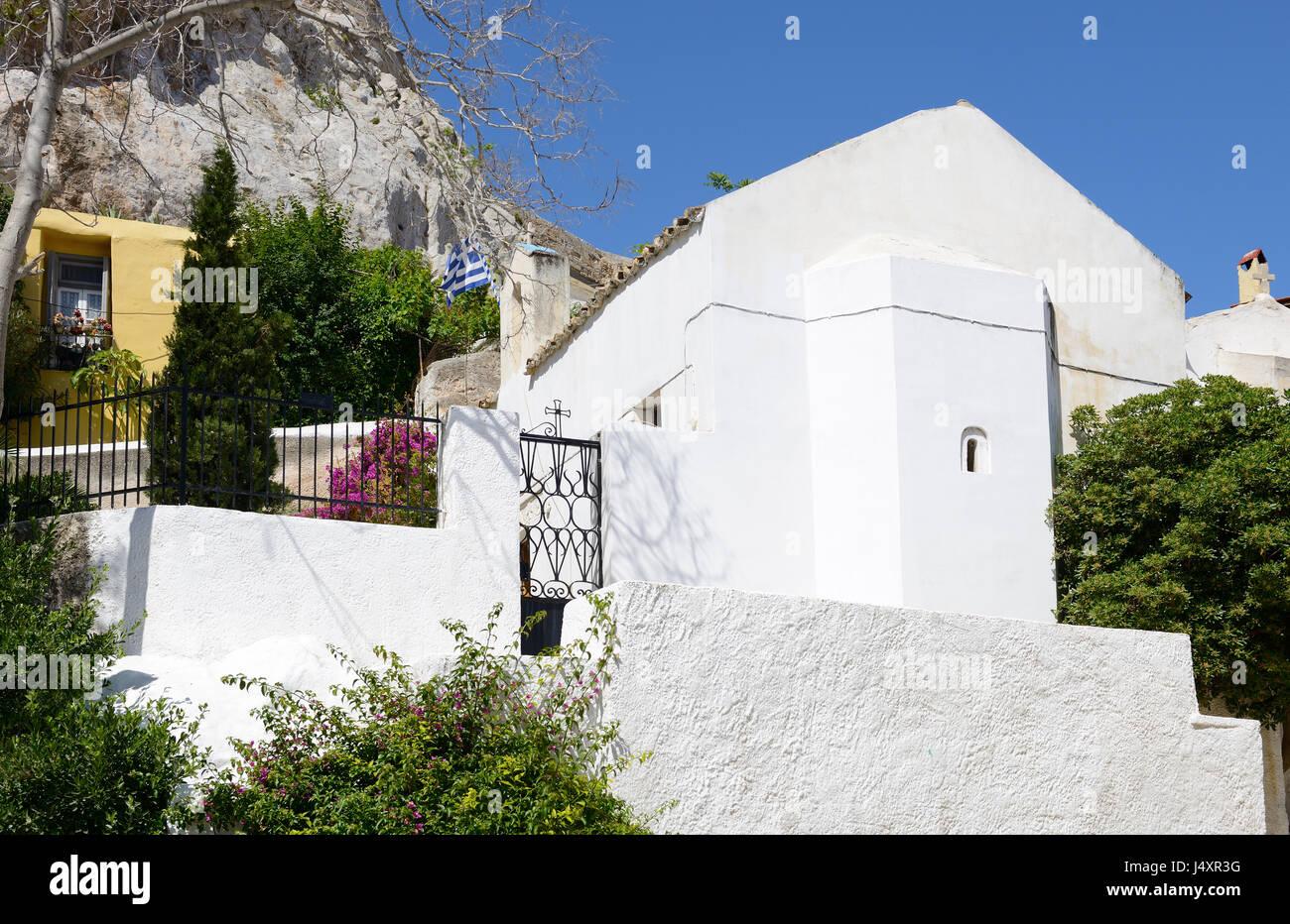 Church of Agios Georgios of the Rock at Anaftioftika Stock Photo