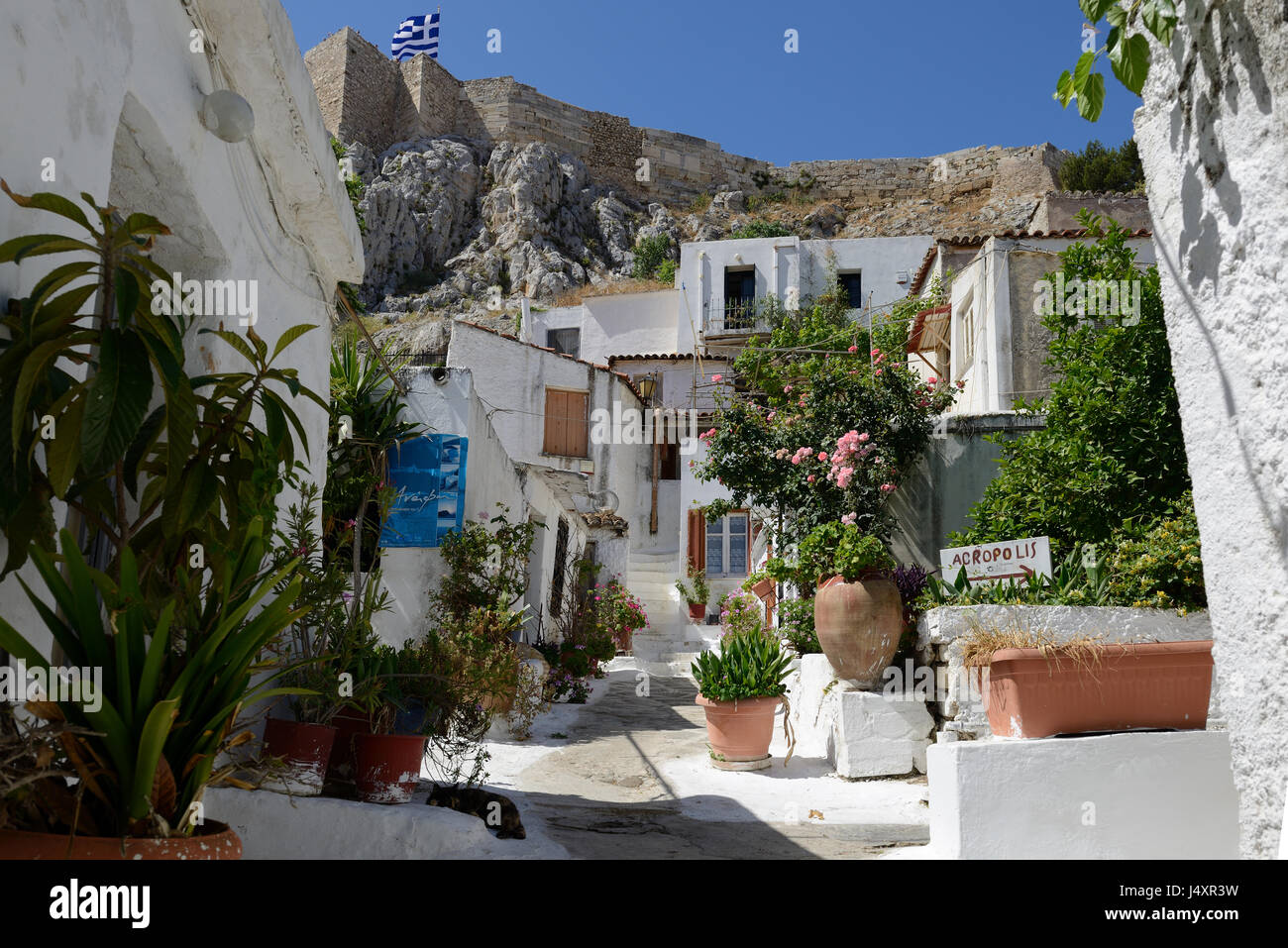 Church of Agios Georgios of the Rock at Anaftioftika Stock Photo