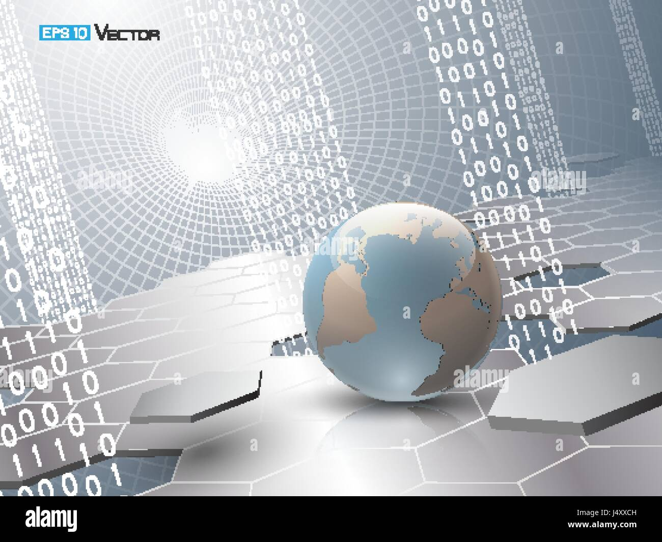 Digital code background abstract vector illustration including digital code background abstract vector illustration including binary code hexagons and sphere with world map used clipping and opacity masks gumiabroncs Image collections