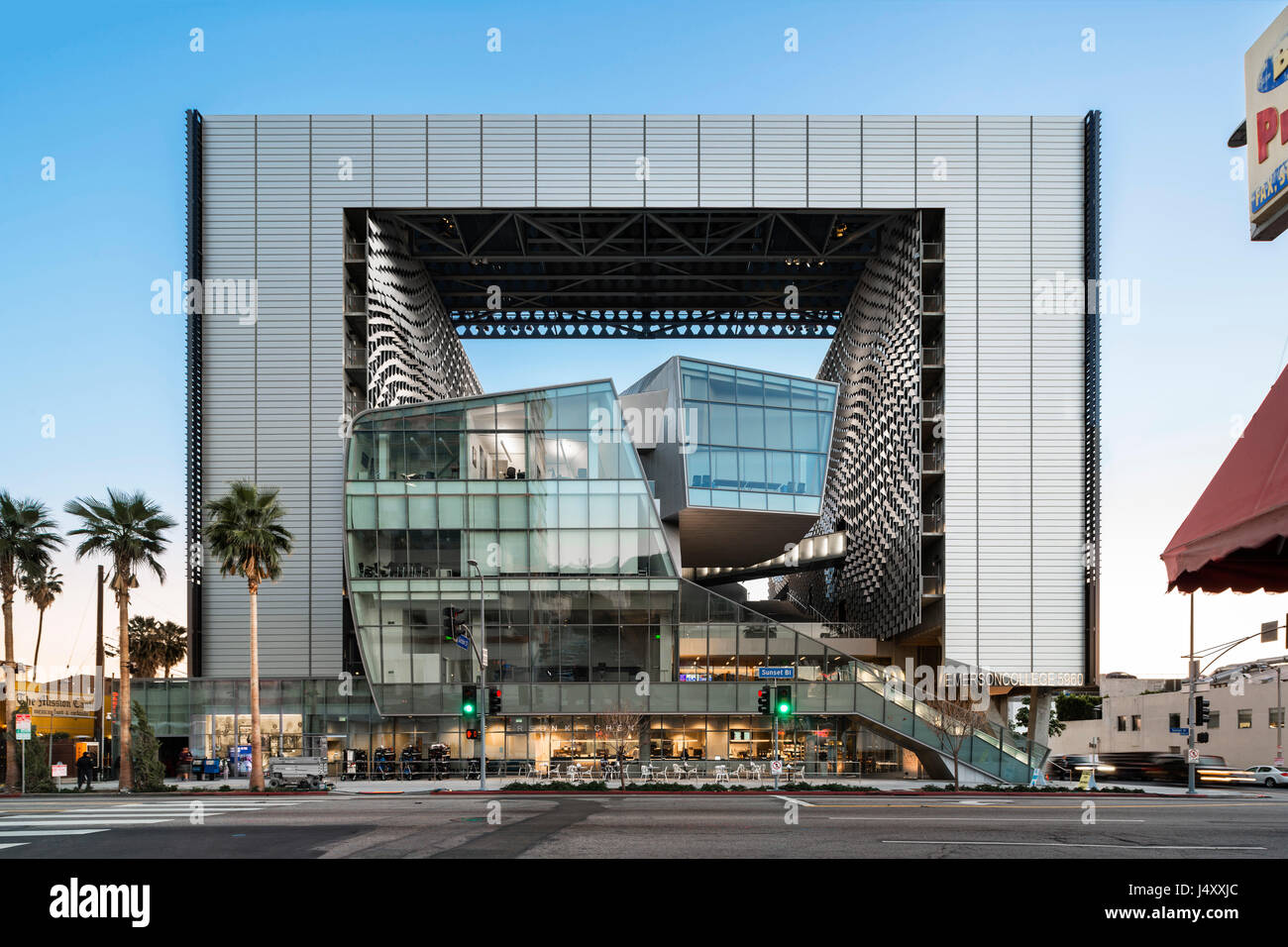 Emerson College Los Angeles >> Exterior View On Sunset Boulevard Emerson College Los Angeles Stock