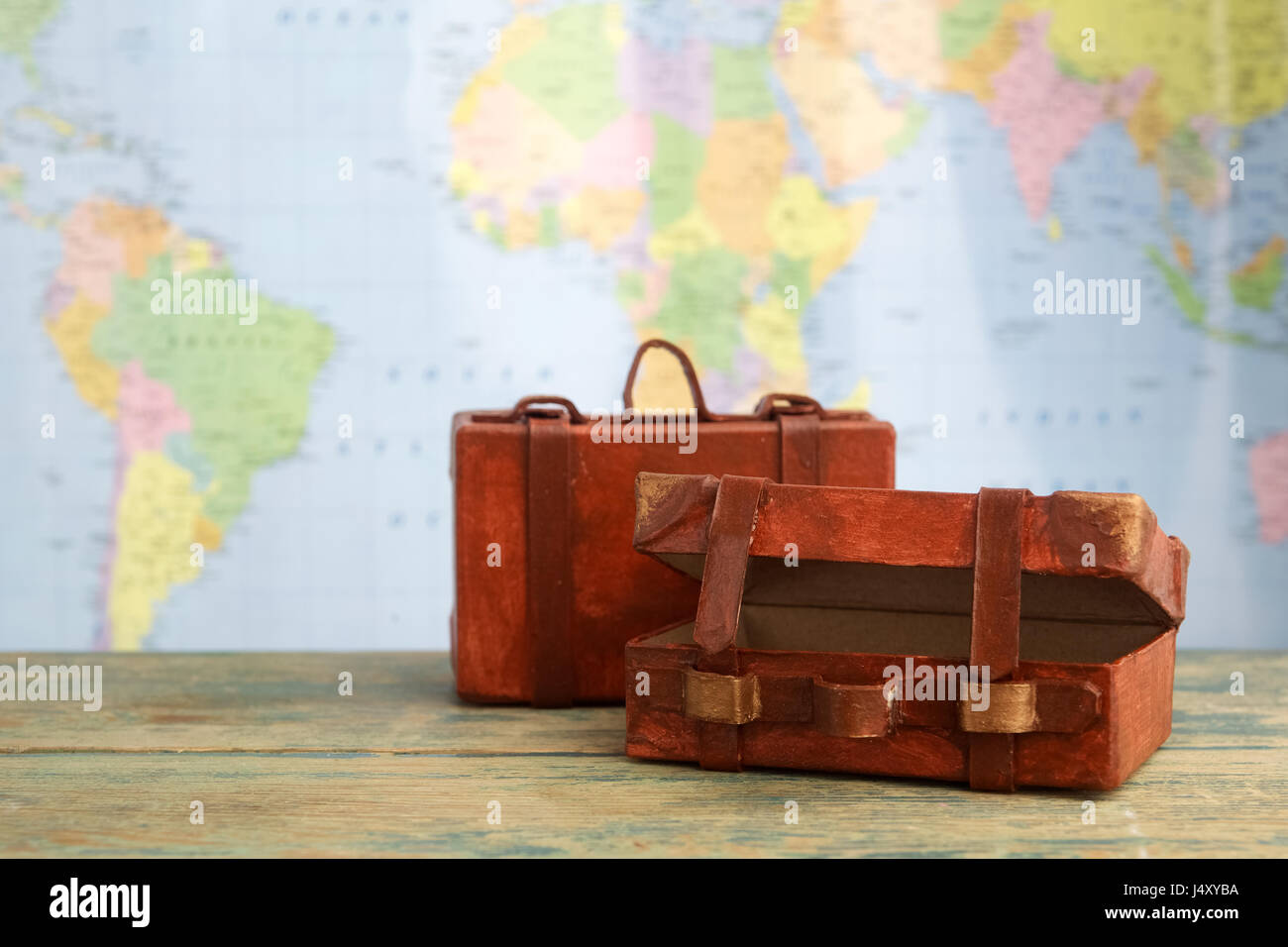 Luggage on world map background travel concept stock photo luggage on world map background travel concept gumiabroncs Image collections