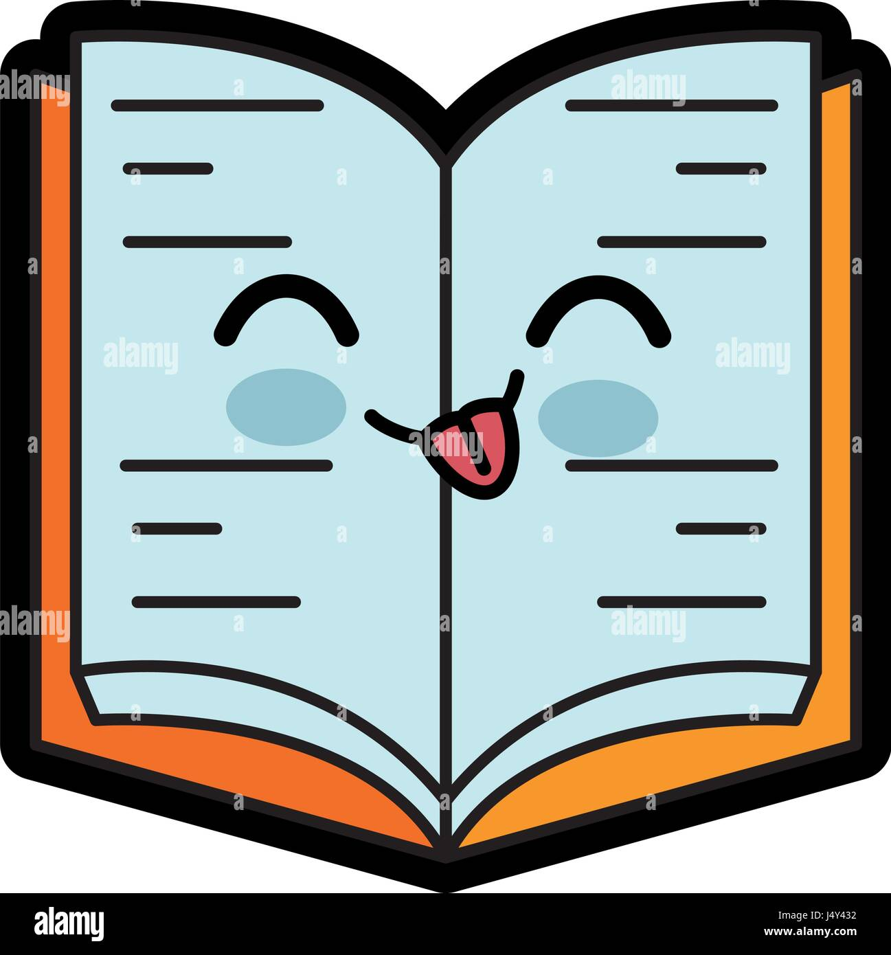 Kawaii Book Icon Stock Vector Art Illustration Vector