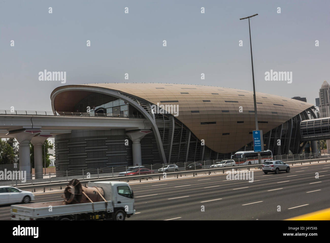 TRAIN STATION,DUBAI, UAE-16TH AUG 2015:-Dubai hasstations every few hundred meters, they are all aiconditioned Stock Photo