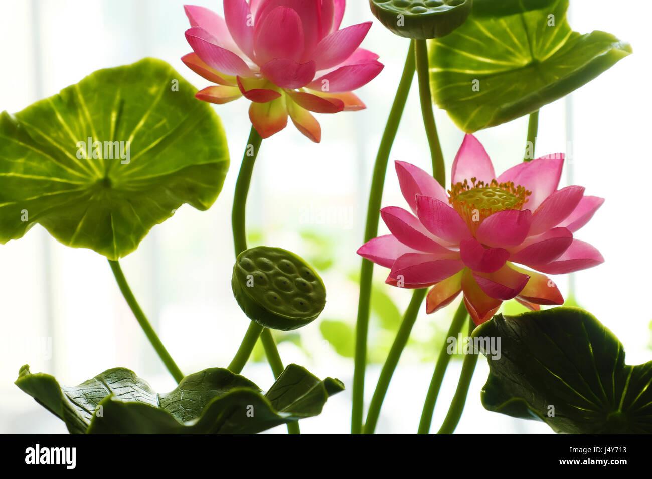 Artificial Flower Handmade Lotus Flower Stock Photos Artificial