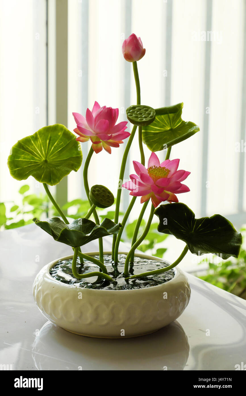 Art And Craft Product From Craftsmanship Pink Lotus Flower Pot From