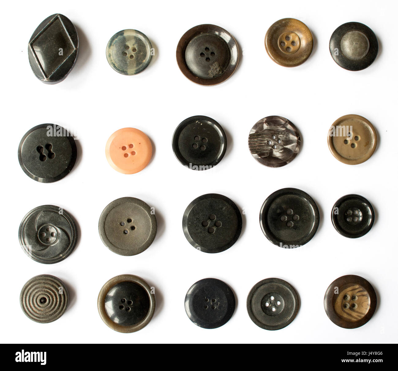 Mixed Collection of Buttons Vectors - Stock Image