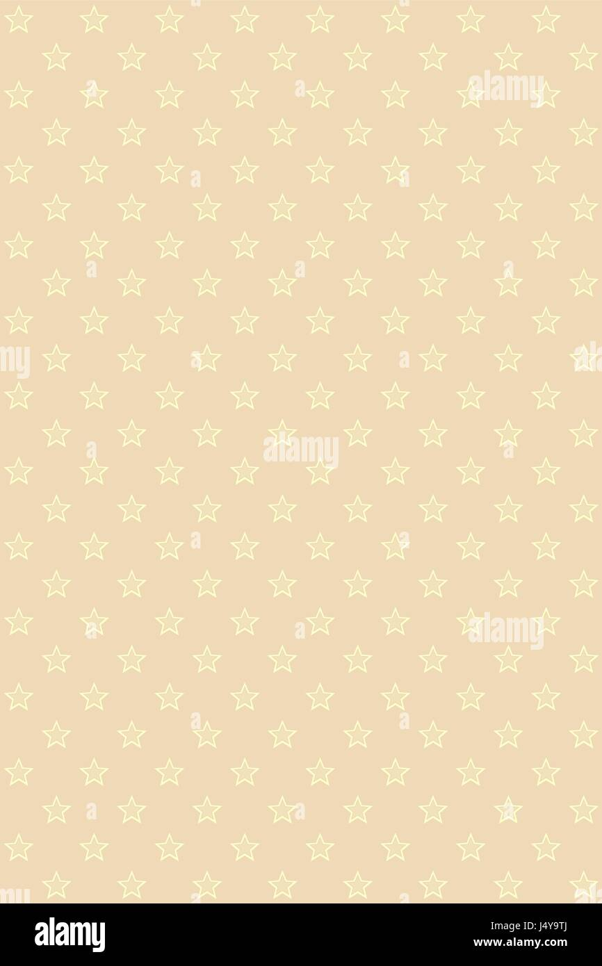 Beige modern seamless pattern with gold stars - Stock Vector