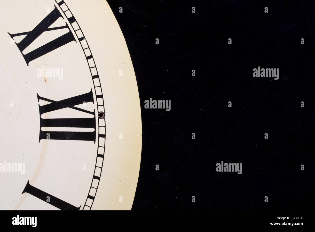 Close Up Of Roman Numeral Clock Face - Stock Image