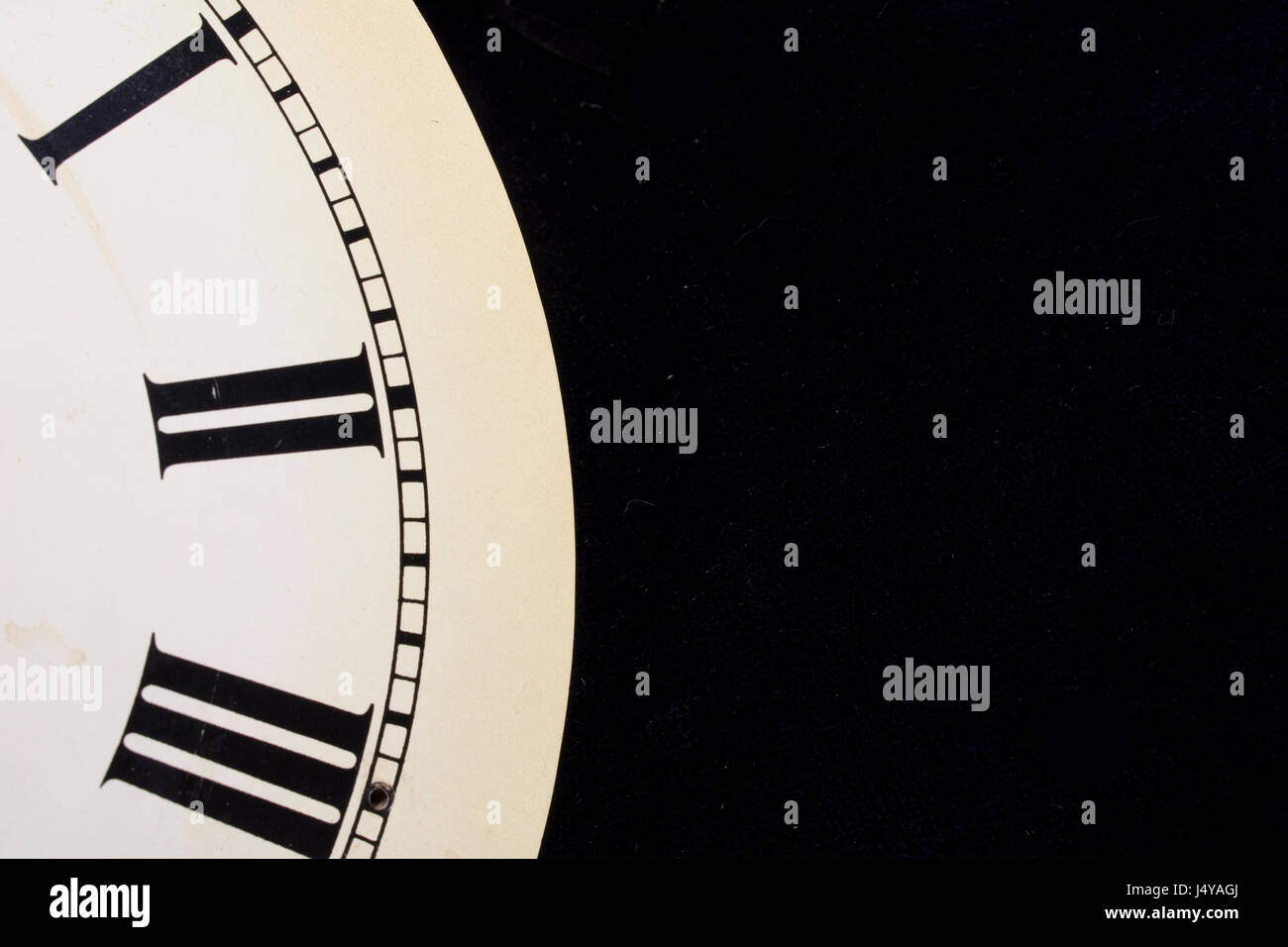 Close Up Of Roman Numeral Clock Face Stock Photo